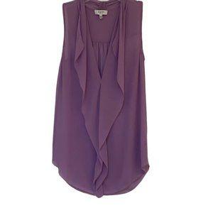 Aritzia Babaton Lilac Ainsley Silk Blouse